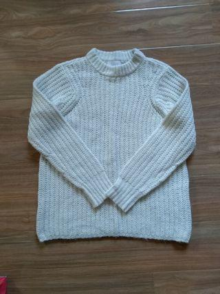 White knitted jumper size XS/S
