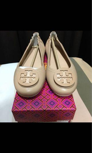 Tory Burch Minnie Travel Ballet With logo sz 7.5