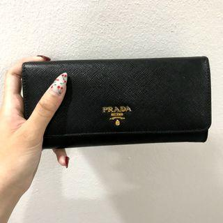 79fa386624804f Prada Saffiano leather black long wallet (slightly nego for imm payment)
