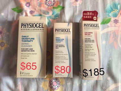 Physiogel AI cream 100ml/ Cleanser150ml/daily moisture cream 75ml