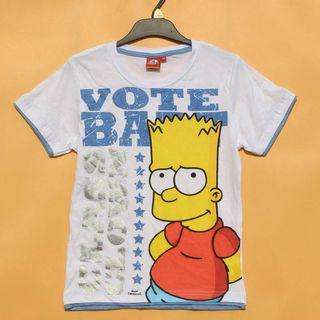 Authentic Bart Simpson cotton boy tshirt TOP clearance 8-12yrs old