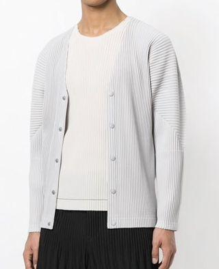 🚚 Homme Plisse Men's Pleated Cardigan