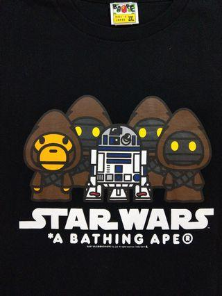 405e4522 Authentic Star Wars A Bathing Ape Jawa and R2-D2 (Men's XXL), Men's  Fashion, Clothes, Tops on Carousell