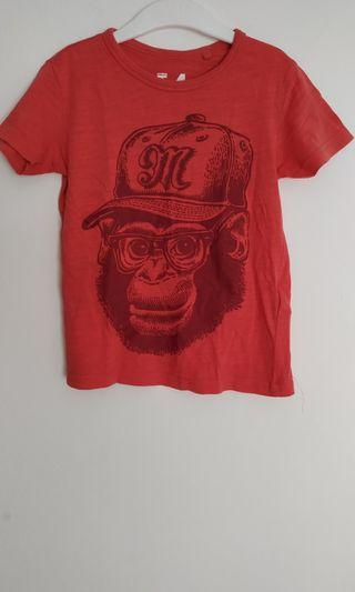 T-shirt Red Monkey Cotton On