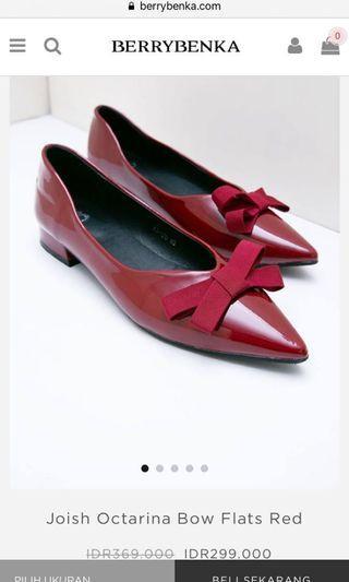 Berrybenka Red Bow Flat Shoes