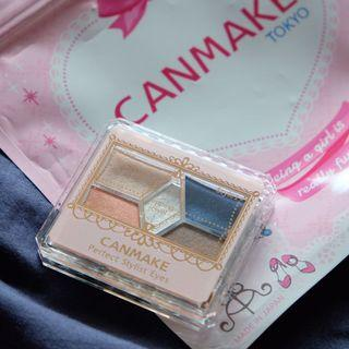 99%新 Canmake 眼影 eye shadow eyeshadow 四色眼影盤 日本 japan four color