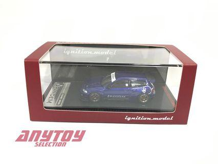 ignition Model IG1412 1/64 日本限定版模型車 PANDEM CIVIC (EG6) Blue Metallic