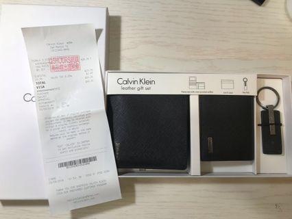 CK 皮夾 名片夾禮盒