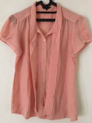 Executive size L Blouse Kemeja Pink