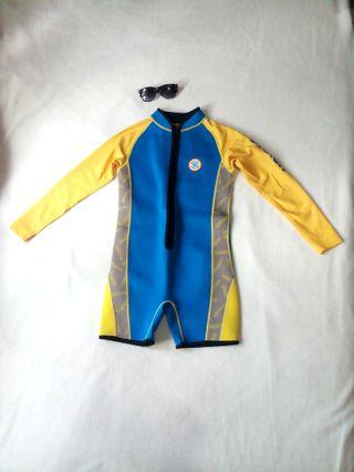 AVALON Longsleeve  One Piece Diver Rushguard Size 10T /Worn once!