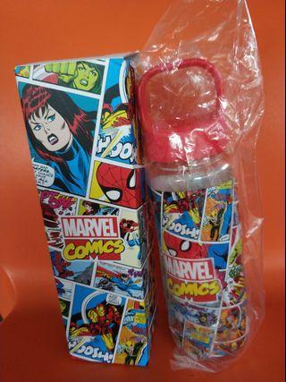 Marvel Comics Plastic Water Bottle NEW