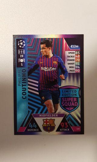 Match Attax UCL 18/10 Limited Edition Philippe Coutinho