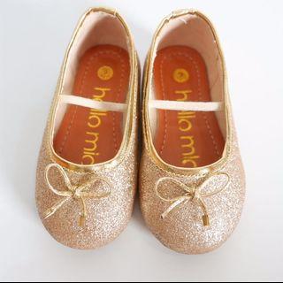 Sepatu Anak Ballerina Gold
