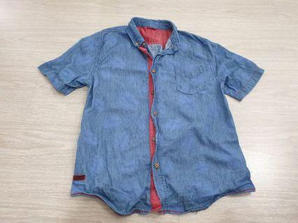 Criss Cross Soft Denim Shirt
