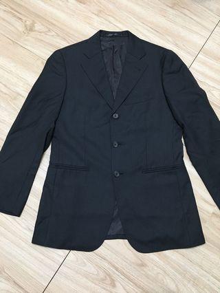 🚚 近新出清!Paul Smith 黑色直條紋三釦式西裝外套M