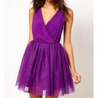 ASOS Purple Prom Dress Sz 6
