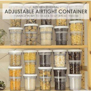 Adjustable Airtight Container // Kitchen Storage Organizer