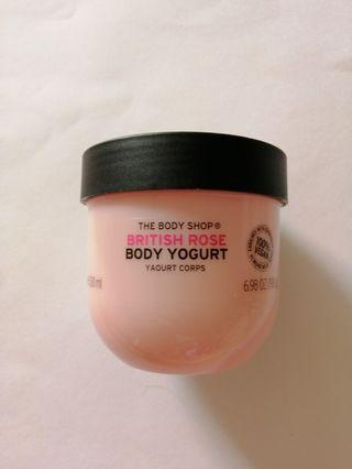 New The Body Shop British Rose Body Yogurt