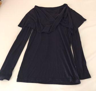 🚚 深紫色長袖上衣,衣長60公分,肩寬30公分(誤差三公分)