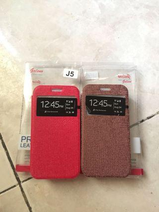 Case Flip Case Casing J5 Gold and Red buy 2 35