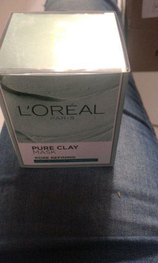 loreal pore refining clay mask