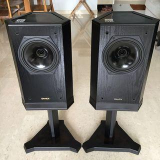 Vintage Tannoy Sixes 609 Speakers with original stands