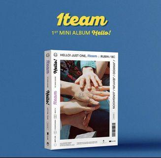 "🚚 1TEAM 1ST MINI ALBUM ""HELLO"""