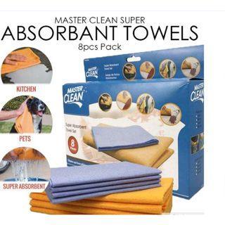 Master Clean Super Absorbent Towels - 8pcs pack