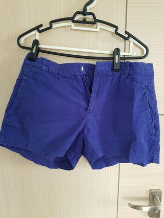 Zara trf emerald blue shorts