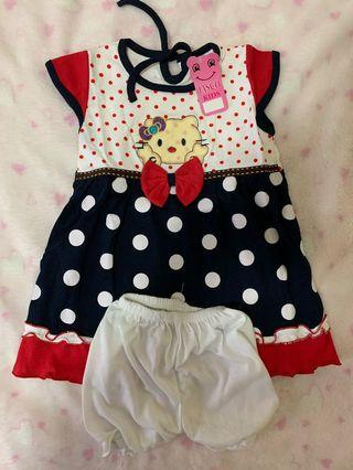 Dress Baby Hello Kitty Polkadot