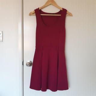 Plum purple skater dress