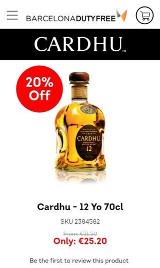 Cardhu 12 years old 70cl