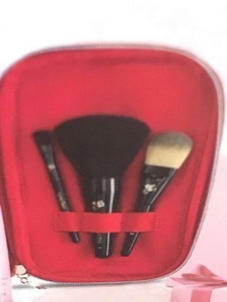 BNIB Lancome 3-piece make-up brush set