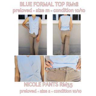 BLUE FORMAL TOP | NICOLE PANTS