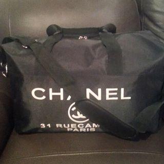 VIP Gift Chanel Black Travel Bag.