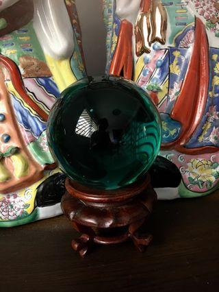 "4"" Green Crystal Ball #EndgameYourExcess"