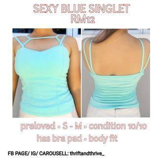 Sexy blue singlet RM12