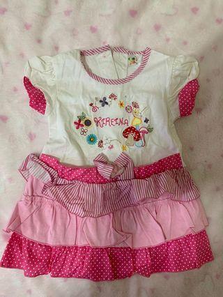 Dress Anak Pink Ruffle