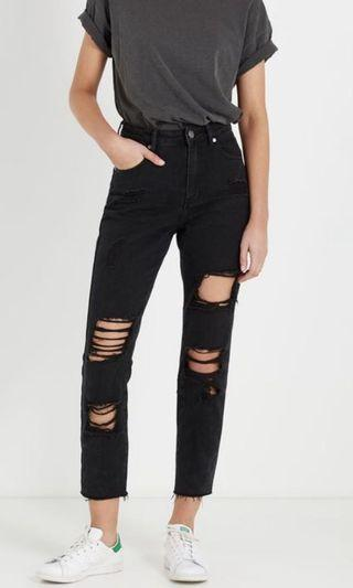 Cotton On black mom jeans