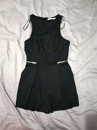 Ladies size 10 black jumpsuit