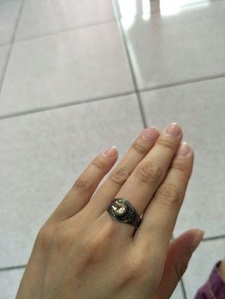檸檬黃 水晶 戒指 純銀