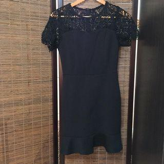 Classy Black dress with embroidered details
