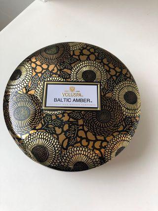 Voluspa Baltic Amber - 3 wick Luxury Candle In Tin
