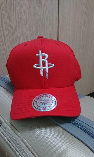 🚚 NBA休士頓火箭 鴨舌帽Men's Houston Rockets Mitchell & Ness Red Basic Washed Flex Hat