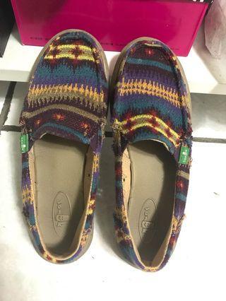 🚚 sanuk 😄幾何圖懶人鞋