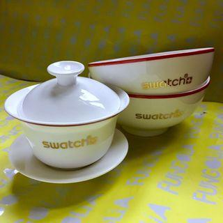 SWATCH 瓷碗+茶杯套裝