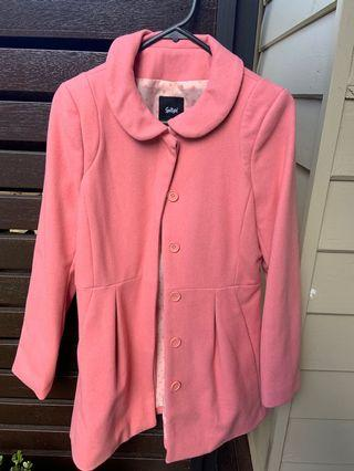 Sportsgirl pink coat