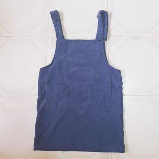 🚚 🧡INSTOCK Navy blue Ribbed Pinafore Dress