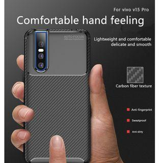 ORIGINAL Case Vivo 15 Pro Softcase Shockproof Carbon