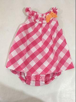 Romper Baby Carter's Pink Checkered